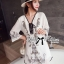 Miami Beach Embroidery Chiffon Dress thumbnail 7