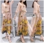Lady Lydia Casual Feminine Butterfly Printed Set with Chiffon Maxi Outerwear L264-8501 thumbnail 1