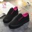รองเท้าผ้าใบแฟชั่นแพลตฟอร์ม ทำจากผ้าใบสีทูโทนสดใสด้านนอก-ใน thumbnail 12
