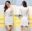 Lady Lucy Minimal Chic Metal Loop Ribbon White Dress L275-7917 thumbnail 11