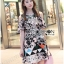 Lady Rachel Print on Print Cut-Out Dress L242-79C04 thumbnail 10