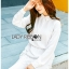 Lady Aurelie Minimal Chic Cotton Long Shirt with Lace Trim L247-69C06 thumbnail 2