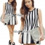 DR-LR-206 Lady Carissa Sleeveless Striped Knit Dress in Black and White thumbnail 8