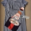 DR-LR-140 Lady Andy Edgy Surreal Print and Embellished Houndstooth Dress thumbnail 14