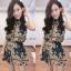 Hiso Dress เดรสแขนกุด ผ้าชีฟองมีชับในมาคูกับสายผูกเอว thumbnail 4