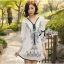 Miami Beach Embroidery Chiffon Dress thumbnail 5