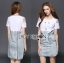Lady Liz Smart Modern Embellished Cotton and Denim Dress L203-79C08 thumbnail 4