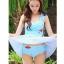 SM-V1-397 ชุดว่ายน้ำทรงชุดแซก สีฟ้าสวยลายน่ารัก เซ็ต 2 ชิ้น ชุดแซก+บิกินี่ thumbnail 9