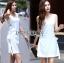 Lady Lucy Minimal Chic Metal Loop Ribbon White Dress L275-7917 thumbnail 13
