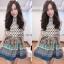 Hiso Dress เดรสแขนกุด ผ้าชีฟองมีชับในมาคูกับสายผูกเอว thumbnail 3