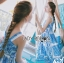 Dolce & Gabbana Italian White & Blue Printed Button-Down Dress L241-69B02 thumbnail 7