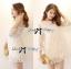 Lady Melanie Elegant Camelia White Organza Dress thumbnail 1