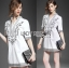 Lady Allison Chinoise Embroidered Cotton Shirt Dress L189-75E07 thumbnail 9