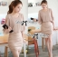 DR-LR-180 Lady Christine Sophisticated Sexy Dress in Nude thumbnail 5