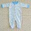 ไซส์ 6-9 เดือน ชุดหมีเด็กคลุมเท้าแขนยาว สีฟ้า