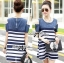 Lady Rita Casual Style Cut-Out Denim Striped Dress L213-65C05 thumbnail 5