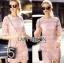 Lady Gabby Sweet Elegant Baby Pink Lace Dress L243-99C01 thumbnail 1