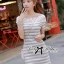 DR-LR-122 Lady Cherline Smart Casual Striped Lace Dress thumbnail 7