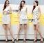 Lady Lucy Minimal Chic Metal Loop Ribbon White Dress L275-7917 thumbnail 14