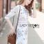 Lady Serena Smart Feminine Embroidered Cotton Dress L272-9914 thumbnail 6