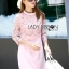 Lauren Holiday Look Guipure Lace Dress in Pink L248-7514 thumbnail 7