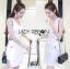 Lady Lucy Minimal Chic Metal Loop Ribbon White Dress L275-7917 thumbnail 5