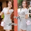DR-LR-122 Lady Cherline Smart Casual Striped Lace Dress thumbnail 3
