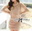 DR-LR-180 Lady Christine Sophisticated Sexy Dress in Nude thumbnail 8