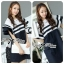 DR-LR-155 Lady Natasha Striped Dress in Navy Style thumbnail 1