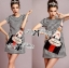 DR-LR-140 Lady Andy Edgy Surreal Print and Embellished Houndstooth Dress thumbnail 10