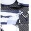 SM-V1-451 ชุดว่ายน้ำบิกินี่ทูพีช ลายขวางสลับสีกรมท่า ครีม สายคล้องคอ กางเกงสายผูกข้างสวยๆ thumbnail 14