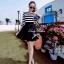 DR-LR-083 Lady Ballerina Stripe Black&White Mini Dress thumbnail 7