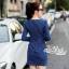 Slim thin long-sleeved dress denim skirt denim by Aris Code A243-79C05 thumbnail 8