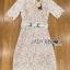 Lady Joanne Classy Elegant White Lace Dress with White Leather Belt L260-7907 thumbnail 15