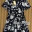 DR-LR-216 Lady Stella Femme Fatale Rose Print Dress thumbnail 15