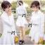 DR-LR-207 Lady Eva Basic Minimal Chic Flared Shirt Dress in White thumbnail 13