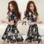 DR-LR-216 Lady Stella Femme Fatale Rose Print Dress thumbnail 6
