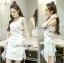 Lady Lucy Minimal Chic Metal Loop Ribbon White Dress L275-7917 thumbnail 4
