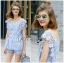 Lady Sophie Sweet Casual Baby Blue Lace Top and Shirts Set L251-89C02 thumbnail 4