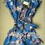 Lady Julia Electric Blue Floral Print Polyester Jumpsuit L127-69E08 thumbnail 3