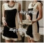 DR-LR-156 Lady Rachel Minimal Chic Ruffle Dress in Black and White thumbnail 6