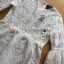 Lady Ashley Sweet Classic Lace Peplum Top in White L261-6909 thumbnail 13