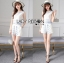 Lady Janet Blue and White Embroidered Cropped Top and High-Waist Shorts Set L272-7902 thumbnail 2