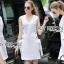 Lady Lucy Minimal Chic Metal Loop Ribbon White Dress L275-7917 thumbnail 1