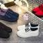 รองเท้าผ้าใบแฟชั่นแพลตฟอร์ม ทำจากผ้าใบสีทูโทนสดใสด้านนอก-ใน thumbnail 1