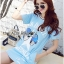 Lady Julie Sporty Style Printed and Sequin Denim Dress L254-75C01 thumbnail 7