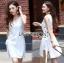 Lady Lucy Minimal Chic Metal Loop Ribbon White Dress L275-7917 thumbnail 16