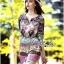 Lady Florence Hippie Chic Printed Satin Dress L191-75C07 thumbnail 4
