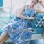 Dolce & Gabbana Italian White & Blue Printed Button-Down Dress L241-69B02 thumbnail 3