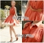 DR-LR-163 Lady Sasha Shirt Dress in Orange and White thumbnail 9